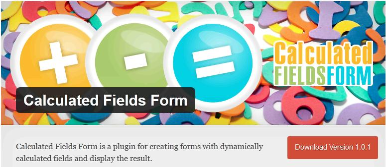 Calculated Fields Form - калькулятор для WordPress
